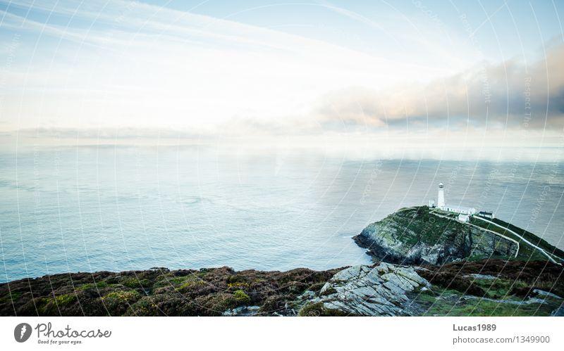 an der Küste Ferien & Urlaub & Reisen Tourismus Umwelt Natur Landschaft Wasser Himmel Klima Schönes Wetter Hügel Felsen Wellen Seeufer Nordsee Ostsee Meer Insel