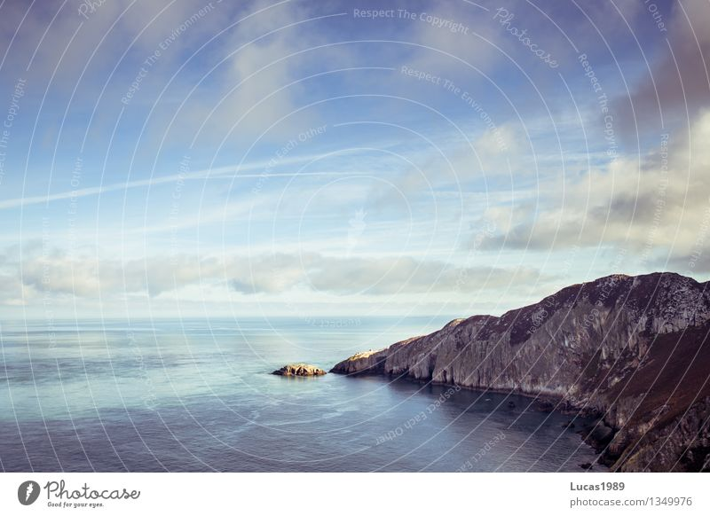 Bucht Ferien & Urlaub & Reisen Tourismus Ausflug Abenteuer Ferne Freiheit Umwelt Natur Landschaft Wasser Himmel Wolken Horizont Klima Wetter Schönes Wetter
