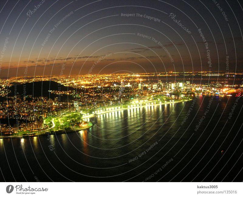 verzaubertes Rio Rio de Janeiro Südamerika Nacht träumen Sehnsucht Sonnenuntergang Erholung genießen Meer ruhig Gelassenheit weitläufig Unendlichkeit Hoffnung