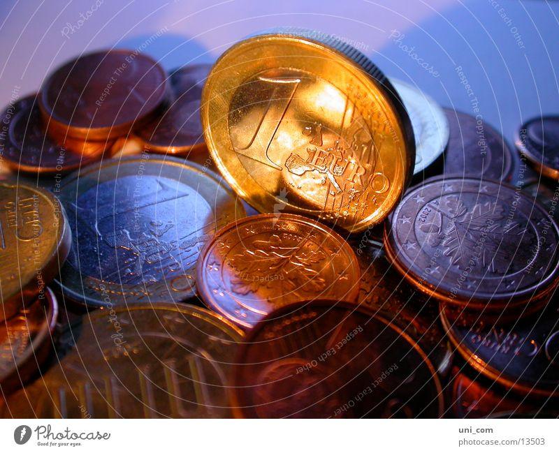 euros Geld Geldmünzen Haufen Euro