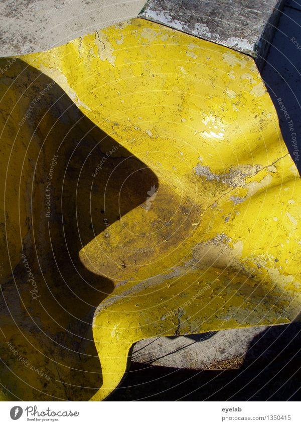 Gelbes Dingsbums schön Gesicht kalt gelb grau Kunst außergewöhnlich Stein braun Dekoration & Verzierung dreckig authentisch ästhetisch verrückt einzigartig