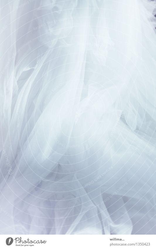 rausch weiß Feste & Feiern Romantik Hochzeit zart Stoff Geister u. Gespenster Reichtum festlich Faltenwurf traumhaft Brautkleid Tüll duftig Ballkleid