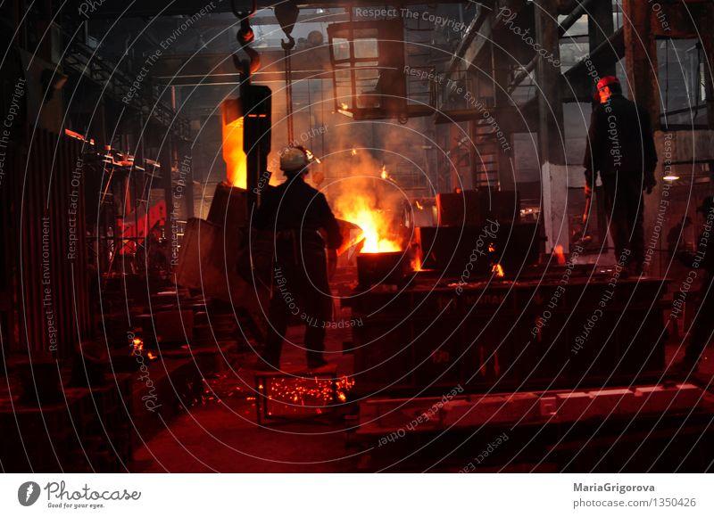 Eisen- und Stahlindustrie Maschine Baumaschine Getriebe Technik & Technologie Fortschritt Zukunft Energiewirtschaft gelb rot schwarz Farbfoto Tag Licht Schatten