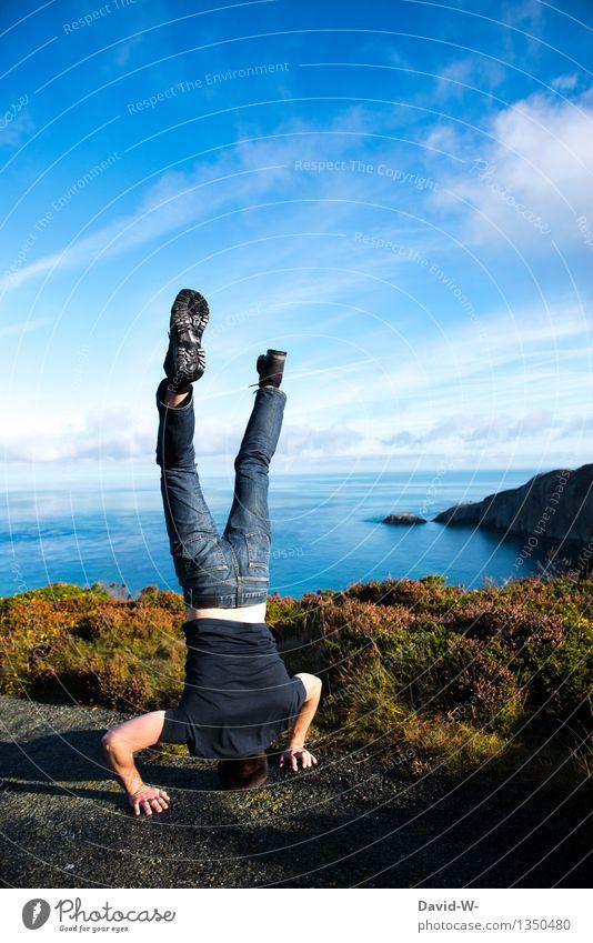 vom Himmel gefallen elegant Gesundheit sportlich Fitness Leben Freizeit & Hobby Ferien & Urlaub & Reisen Tourismus Ausflug Abenteuer Mensch maskulin Junger Mann