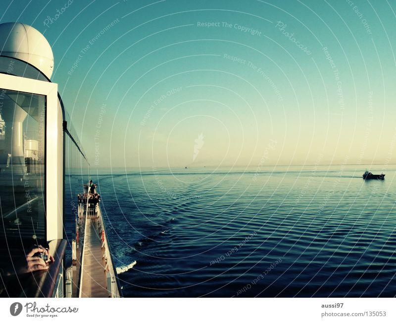Oceanist Meer ruhig Wasserfahrzeug Schifffahrt Kreuzfahrt Pazifik Sonnendeck