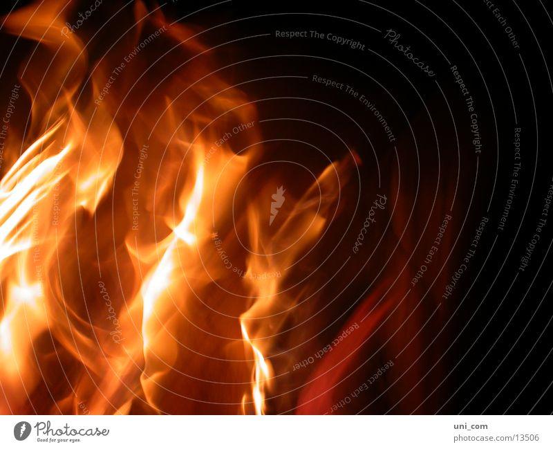 in Flammen Wärme Brand Physik heiß brennen Kamin Fototechnik