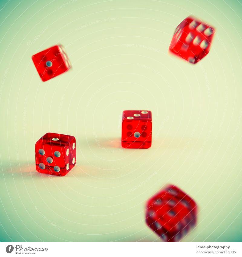 Alea iacta est Spielen Glück Freizeit & Hobby Würfel Ziffern & Zahlen fallen Mathematik Desaster rechnen verlieren Spielkarte zählen Spielkasino Poker Spieler