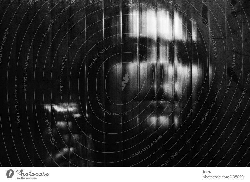 To Cut Into Pieces Mensch Gesicht Glas Teile u. Stücke Raster hacken