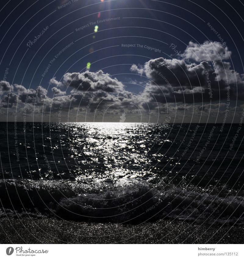 cruel summer Himmel Wasser Ferien & Urlaub & Reisen Sonne Sommer Meer Strand Wolken Erholung dunkel Küste springen See Horizont Wellen dreckig