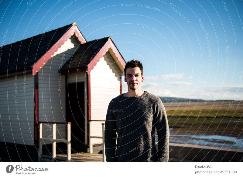 skandinavisch II Mensch Ferien & Urlaub & Reisen Mann Sommer Sonne Landschaft Erholung Ferne Erwachsene Leben Lifestyle natürlich Tourismus Ausflug