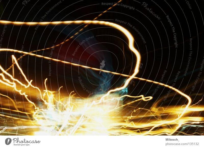 Explosion Langzeitbelichtung fahren Autobahn Aktion Licht Autoscheinwerfer Straße PKW