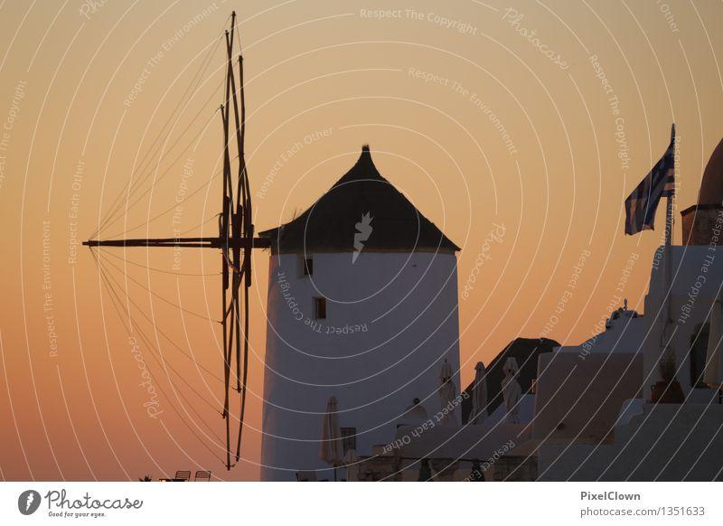 Santorin Ferien & Urlaub & Reisen schön Erholung Meer Architektur Lifestyle Schwimmen & Baden Stimmung träumen orange Tourismus elegant Insel Fernweh harmonisch