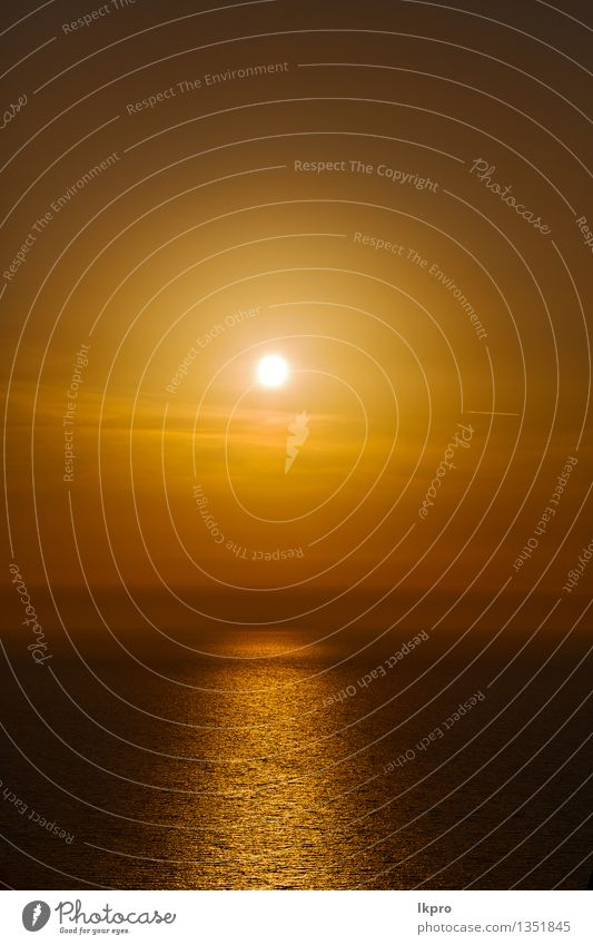 Mittelmeer Rotes Meer ruhig Ferien & Urlaub & Reisen Sommer Sonne Insel Wellen Tapete Natur Landschaft Himmel Wolken Horizont Küste heiß gelb gold rot schwarz