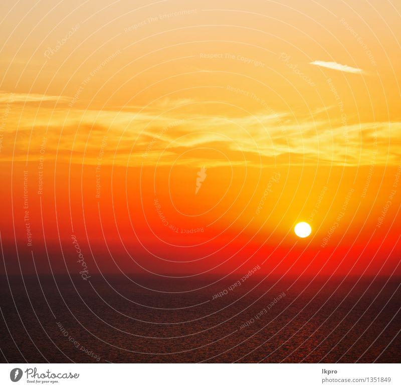 das Himmelmeer Mittelmeerrotes Meer ruhig Ferien & Urlaub & Reisen Sommer Sonne Insel Wellen Tapete Natur Landschaft Wolken Horizont Küste heiß gelb gold