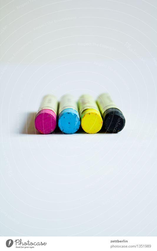MCYK Farbe schwarz gelb Farbstoff Kunst Textfreiraum Grafik u. Illustration Künstler Kreide Druck Farbstift System zyan magenta Druckerei färben