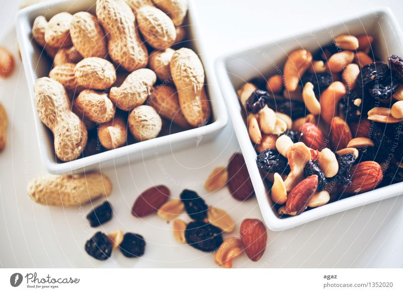 Peanuts & Raisins Lebensmittel Ernährung Fingerfood füttern abstract agriculture animal autumn Hintergrundbild black brown diet dried eat fruit healthy