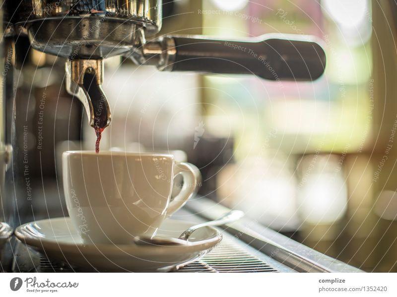 Espresso Lebensmittel Ernährung Kaffeetrinken Getränk Heißgetränk Latte Macchiato Geschirr Tasse Besteck Gesundheit harmonisch Erholung ruhig Duft
