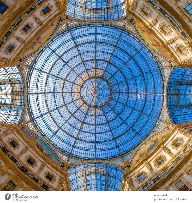 Haube in der Galleria Vittorio Emanuele, Mailand, Italien Reichtum Stil Ferien & Urlaub & Reisen Dekoration & Verzierung Kunst Kultur Himmel Platz Gebäude