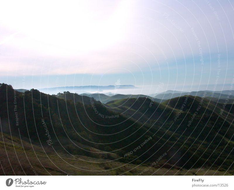 Berge Berge u. Gebirge Nebel USA West Küste