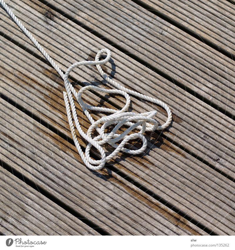 Stolperfalle Holz Seil Freizeit & Hobby Segeln Steg durcheinander Knoten
