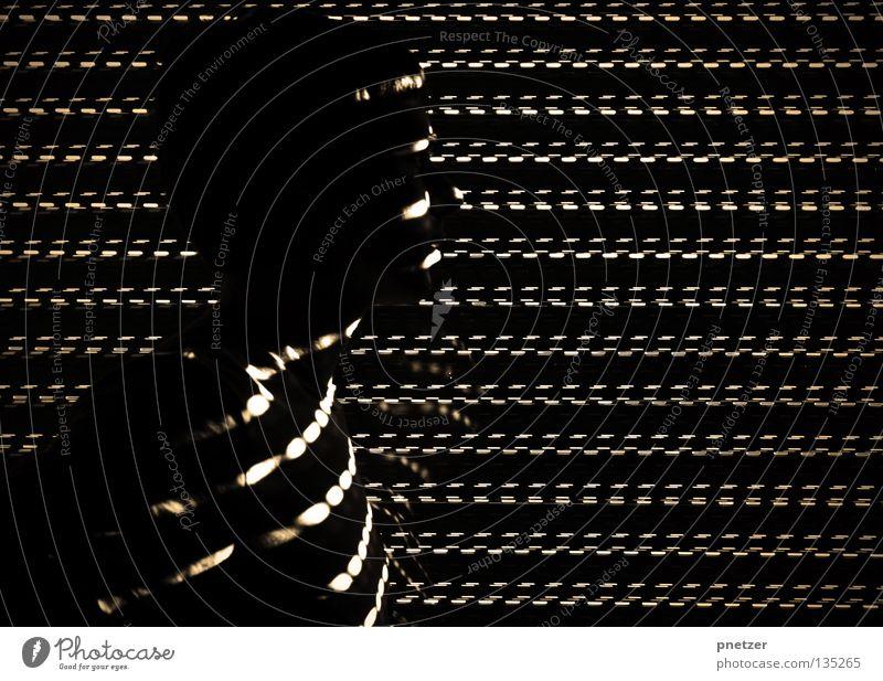 Fuzzy Lights Mensch Mann weiß Freude schwarz dunkel Kopf Linie hell geheimnisvoll Punkt Seite Silhouette Reaktionen u. Effekte Lamelle Himmelskörper & Weltall