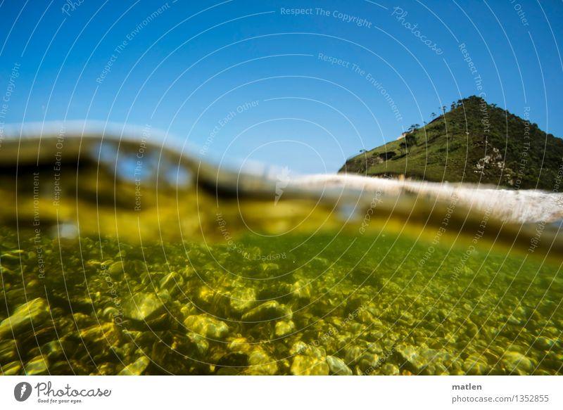 die Schatzinsel Himmel Ferien & Urlaub & Reisen blau grün Sommer Wasser weiß Meer Landschaft Strand Küste Schwimmen & Baden braun Felsen Wetter Wellen