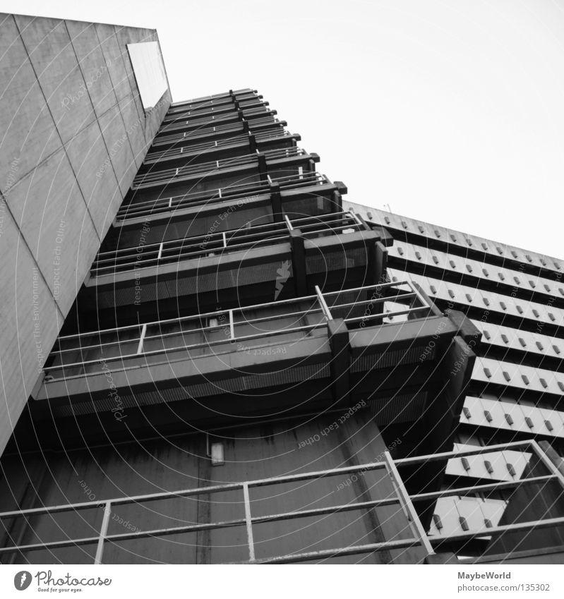 City Nord 3 Post Gebäude Fassade Fenster Hamburg City Nord building bw Schwarzweißfoto architecture Stadt windows