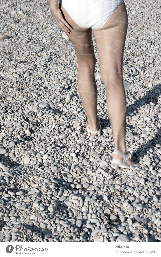 walking Strand Sommer Natur Erholung Bikini Spanien wandern Küste Gesundheit stones legs spain rocks beach girl Stein Beine Felsen Strand Mädchen