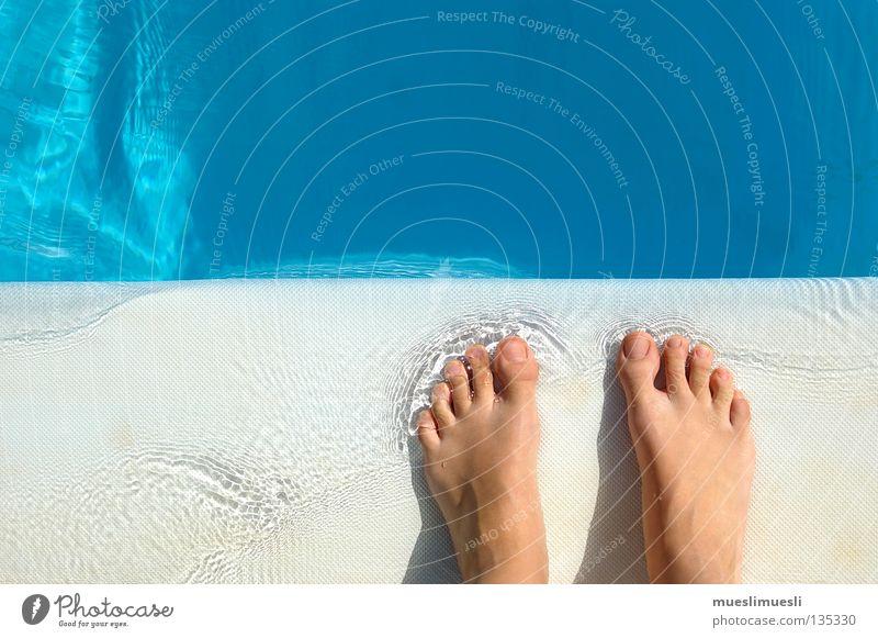 klarer Blick Schwimmbad Madeira Portugal Ferien & Urlaub & Reisen Sommer Wasser Konzentration Fuß frei free Paradies Blubbern