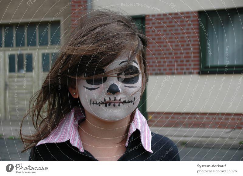 Papas Biest Kind Mädchen Maske Karneval gruselig Halloween