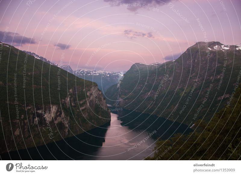 Norwegen XIX - Geiranger Himmel Natur Ferien & Urlaub & Reisen schön Landschaft Wolken Ferne Berge u. Gebirge Umwelt Küste Freiheit Felsen Horizont wandern