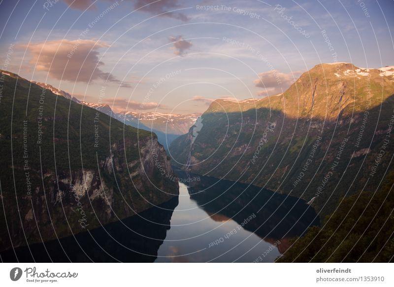 Norwegen VI - Geiranger Himmel Natur Ferien & Urlaub & Reisen schön Sommer Meer Landschaft Wolken Ferne Berge u. Gebirge Umwelt Küste Freiheit Felsen ästhetisch groß
