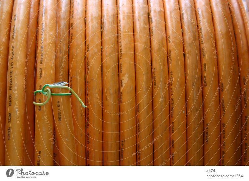 Schlauch Rolle Streifen Industrie Gas orange