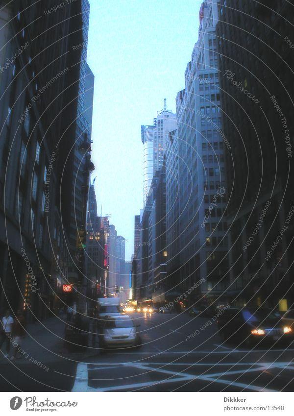 Twilight Architektur USA Amerika New York City Broadway Times Square