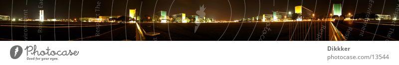 Brasilia - Esplanade Ministerios Brasília Ministerium Panorama (Aussicht) Nacht Platz Niemeyer groß Panorama (Bildformat)