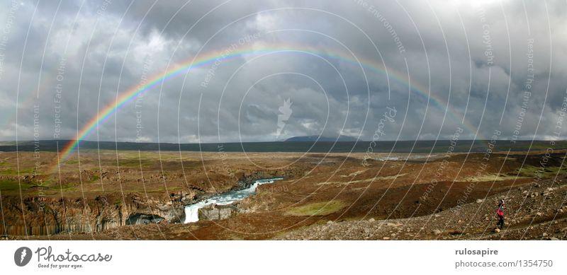 Island #3 Ferien & Urlaub & Reisen Abenteuer Ferne Freiheit Natur Landschaft Himmel Wolken Gewitterwolken Sonne Wetter Regen Insel Hochebene Blick wandern