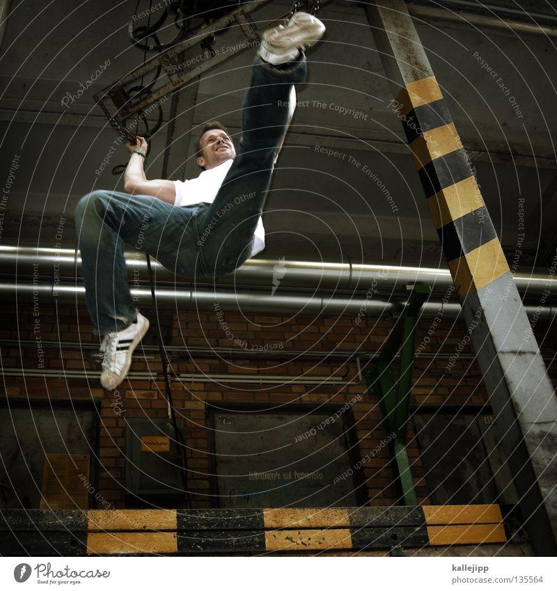 kung fu fighting Mensch Mann springen Streifen Industriefotografie Dynamik Bahnhof kämpfen Respekt Kampfkunst Rampe Mittelstand Fußtritt Kämpfer Kampfsport treten