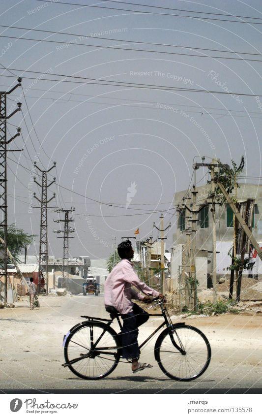 Cruising Himmel Sommer Ferien & Urlaub & Reisen Wärme Sand Landschaft Fahrrad Verkehr fahren Kabel Physik heiß verfallen Amerika trocken Indien