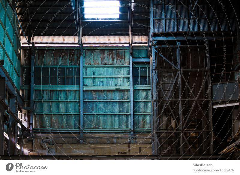 Industriehalle Arbeitsplatz Baustelle Fabrik Wirtschaft Handel Güterverkehr & Logistik Energiewirtschaft Business Unternehmen Erfolg Industrieanlage Mauer Wand
