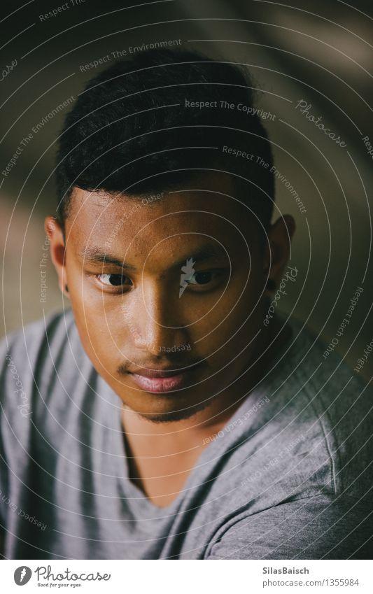 Junger Mann Portrait II Mensch Jugendliche schön Freude 18-30 Jahre Erwachsene Gefühle Stil außergewöhnlich Haare & Frisuren Lifestyle Kopf Mode Stimmung