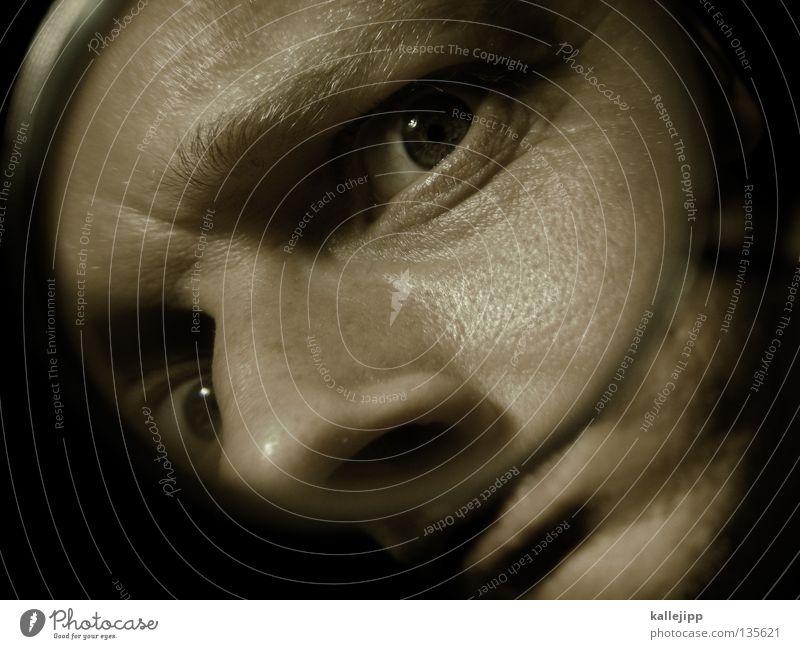 tatort Mensch Mann Gesicht Auge Kopf Mund Angst Haut Nase Suche entdecken Schmerz Tunnel schreien Rauschmittel Zahnarzt