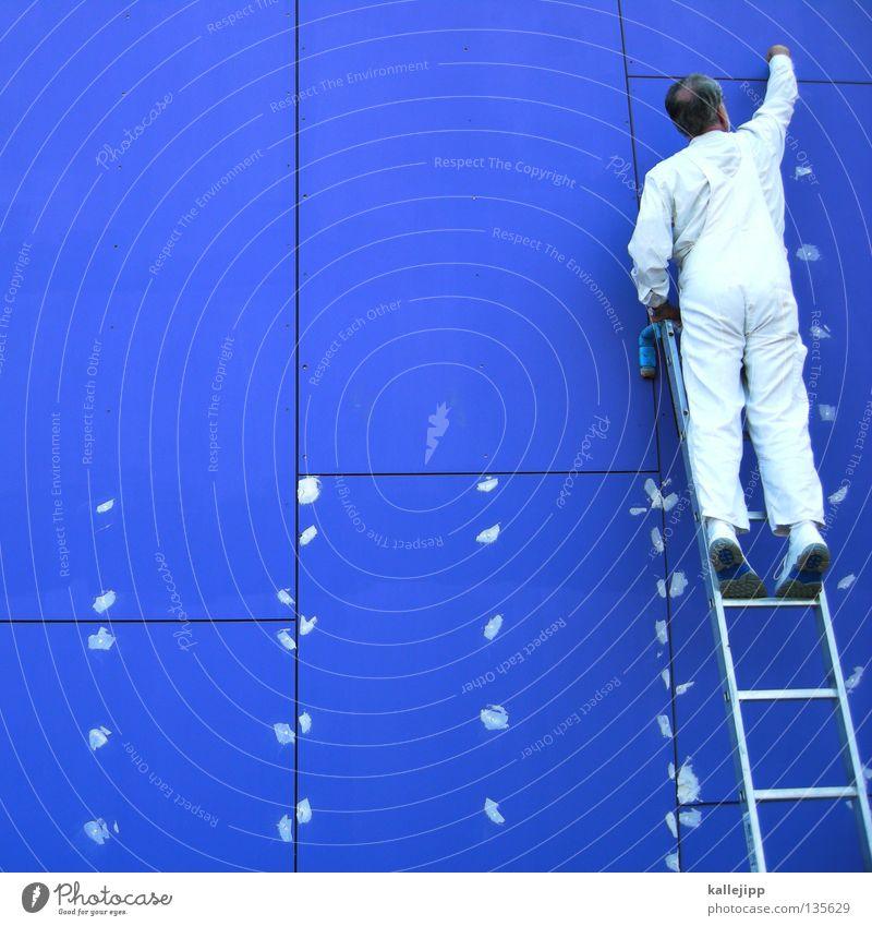 picasso Mensch Mann blau Farbe Arbeit & Erwerbstätigkeit Wand Humor Kunst Erfolg Bekleidung gefährlich Anzug Dienstleistungsgewerbe Handwerk Gemälde Ruhestand