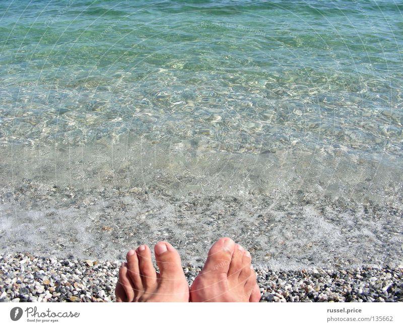 Tag am Meer Wasser schön blau Sommer Freude Strand Ferien & Urlaub & Reisen Erholung Freiheit Stein Fuß Küste Schifffahrt Griechenland