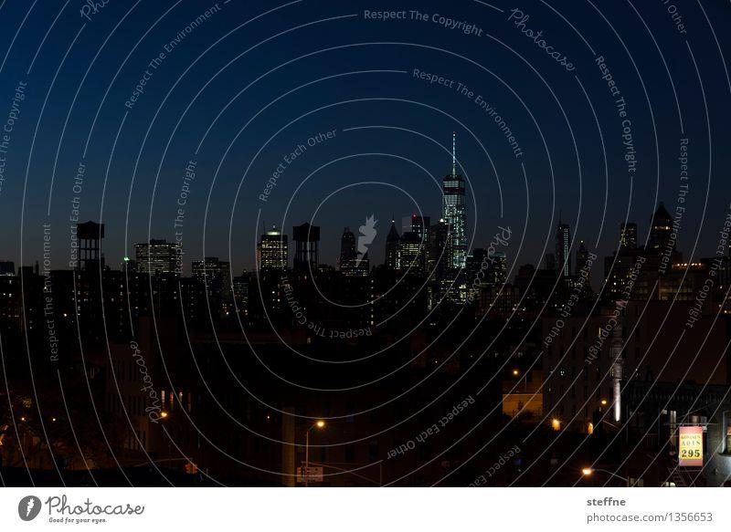 NYC |02 Stadt Freiheit Stadtleben Hochhaus ästhetisch USA Skyline Wahrzeichen Amerika Manhattan New York City Nachtaufnahme Brooklyn World Trade Center