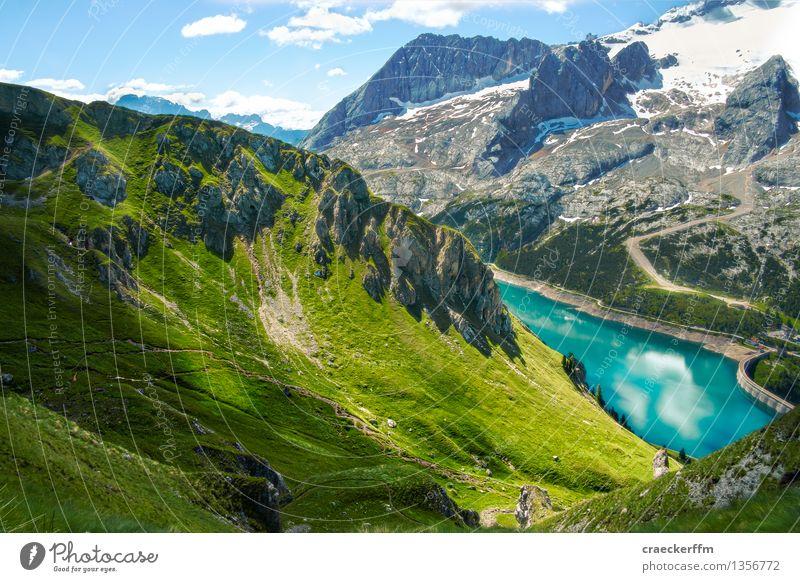 Dolomiten VII Ferien & Urlaub & Reisen Tourismus Ausflug Freiheit Sommer Sommerurlaub Berge u. Gebirge wandern Umwelt Natur Landschaft Hügel Alpen See
