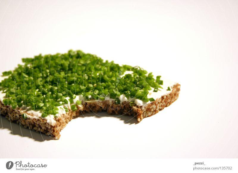 schnapp .. und weg grün Ernährung Gesundheit Lebensmittel Kräuter & Gewürze lecker Appetit & Hunger Brot genießen Korn Vegetarische Ernährung Schnittlauch Sesam