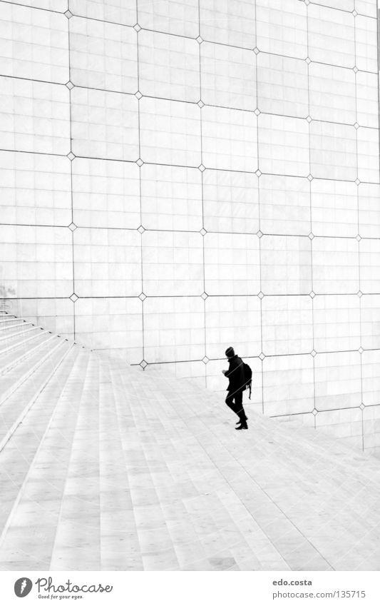 White Anesthetic Paris La Défense Frankreich modern Trauer Verzweiflung Parigi Arch de la Défense La Grand Arche Black & White Johann Otto von Spreckelsen
