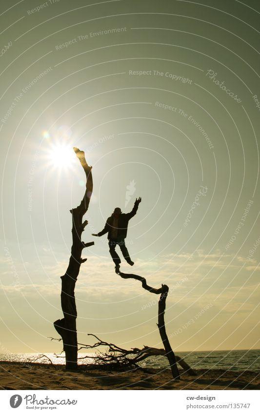 MAMA, GUCK MAL! Mensch Wasser Ferien & Urlaub & Reisen Sommer Baum Sonne Meer Freude Winter schwarz Erholung Herbst Spielen klein Sand springen
