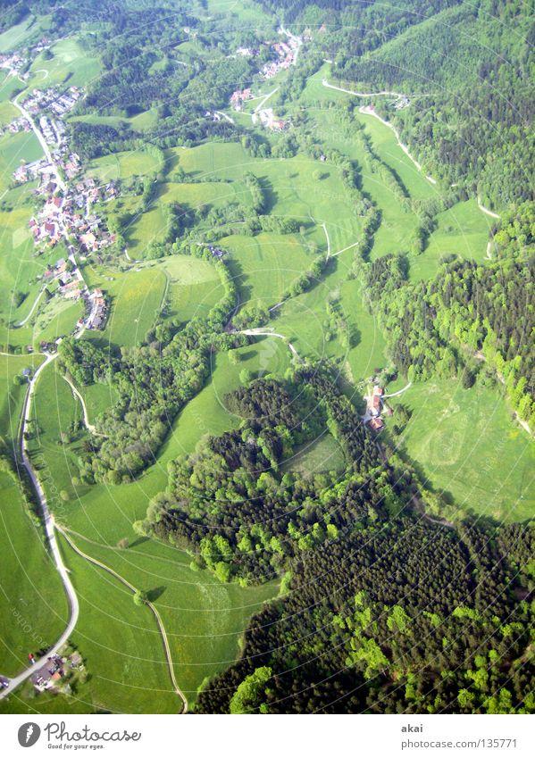 Schauinsland 3 Freude Farbe orange Beginn Fallschirm Schwarzwald Gleitschirmfliegen Abheben Baden-Württemberg Gleitschirm betrügen Freiburg im Breisgau Collage Flugsportarten Farbenspiel Schauinsland