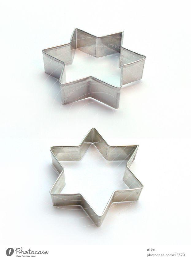 Ausstecherle Weihnachten & Advent Freizeit & Hobby paarweise leer Stern (Symbol) Teigwaren Plätzchen nebeneinander Backform